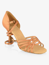 Womens Persephone Strappy Satin Ballroom Dance Shoes