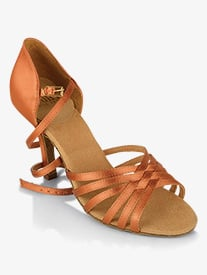 Womens Selene Strappy Satin Ballroom Dance Shoes