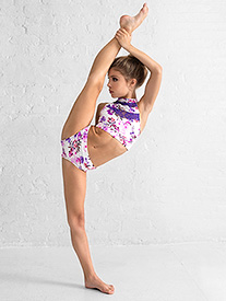 Girls Purple Floral Dance Briefs