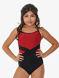 Womens Striped Corduroy Camisole Leotard