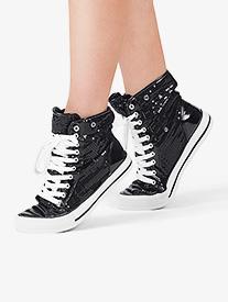 Adult Hi-Top Sequin Fur Sneaker
