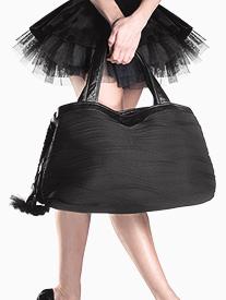 Multi Compartment Leather & Microfiber Dance Bag