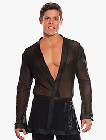 Mens Mesh Wrap Ballroom Top