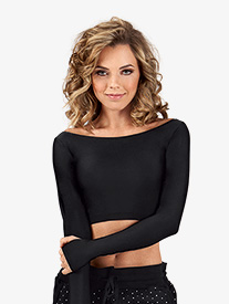 Adult Long Sleeve Crop Top