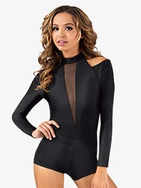 Adult Mock Neck  Long Sleeve Bodysuit