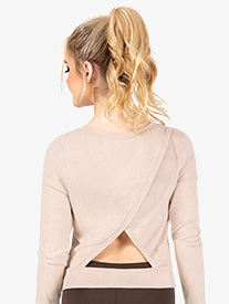 Womens Triangle Back Warm Up Sweater