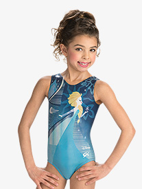 Girls/Womens Disney Elsas Blue Ice Leotard