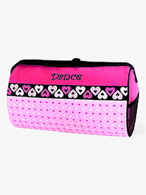 Dotz n Hearts Pattern Dance Duffle Bag