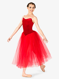 Womens Performance Camisole Romantic Length Tutu Dress