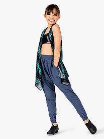 Girls Plaid 3-Piece Hip Hop Set