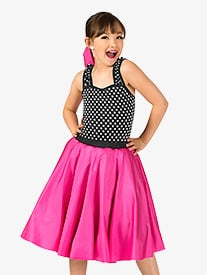 Girls Vintage Polka Dot Tank Dance Costume Dress