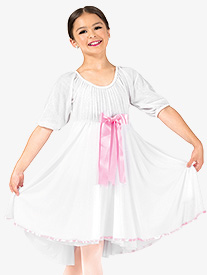 Girls Clara Glitter Mesh Dance Costume Dress