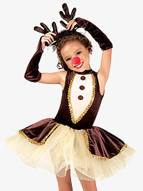 Girls Reindeer Games Character Dance Costume Set