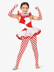 Girls Candy Cane Lane Two-Tone Costume Set