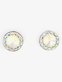 Iridescent Stone 18mm Post Earring
