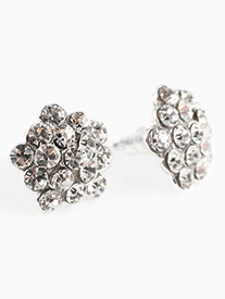 15mm Rhinestone Cluster Earrings