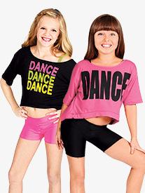 Child Oversize Crop DANCE Tee