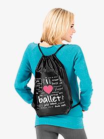 I Love Ballet Cinch Backpack