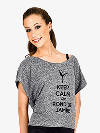 Adult Keep Calm and Rond de Jambe T-Shirt