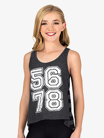Girls 5-6-7-8 High-Low Dance Tank Top