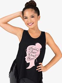 Girls Dancer Hair Dont Care Tank Top