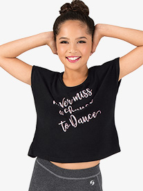 Girls Never Miss A Chance To Dance Cap Sleeve Tee