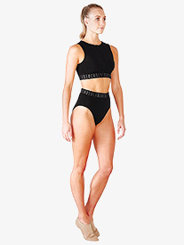 Womens Teigan High Waist Logo Briefs