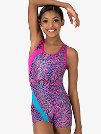 Girls Crisscross Back Tank Shorty Unitard