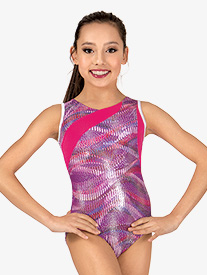Girls Sound Wave Tank Leotard