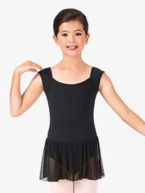 Girls Short Sleeve Ballet Dress