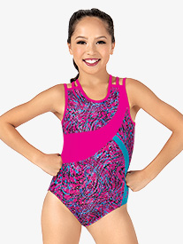 Girls Animal Print Gymnastics Leotard