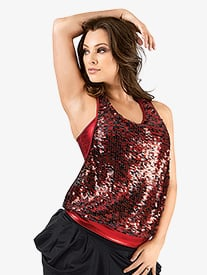 Adult Gleam Sequin Tank Top