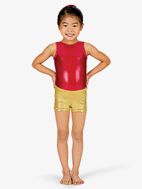 Child Basic Metallic Dance Shorts