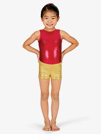 Child Basic Metallic Dance Shorts