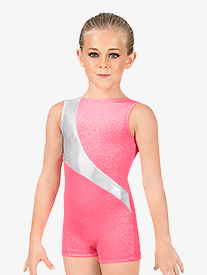 Child Shimmery Velvet Tank Biketard