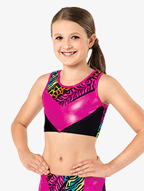 Girls Jungle Mania Gymnastics Tank Bra Top