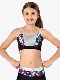 Girls Hologram X-Back Camisole Bra Top