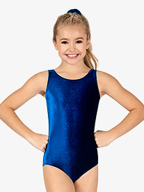 Girls Gymnastics Velvet Tank Leotard