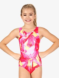 Girls Gymnastics Harajuku Foil Tank Leotard