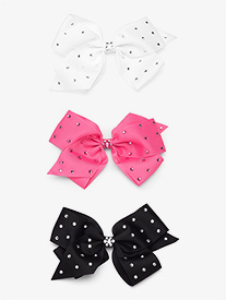 Rhinestone Studded Hair Bow