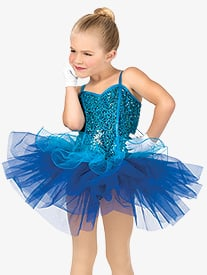 Girls Mock Corset Camisole Costume Tutu Dress