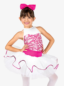 Girls Dual-Tone Sequin Tank Costume Tutu Dress