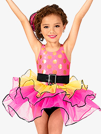 Girls Polka Dot Tank Costume Tutu Dress