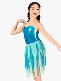 Girls Metallic Two-Tone Camisole Pixie Character Costume Set