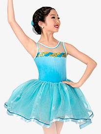 Girls Glitter Mesh Costume Tutu Dress