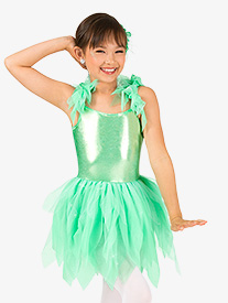 Girls Flutter Sleeve Fairy Character Costume Tutu Dress
