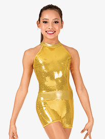 Child Sequin Tank Shorty Unitard