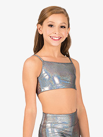 Girls Iridescent Performance Camisole Bra Top