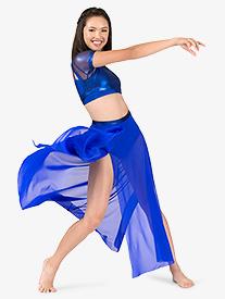 Womens Mesh Side Slit Performance Skirt