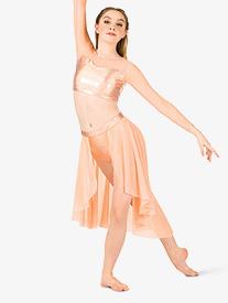 Womens Iridescent Performance Open Front Skirt